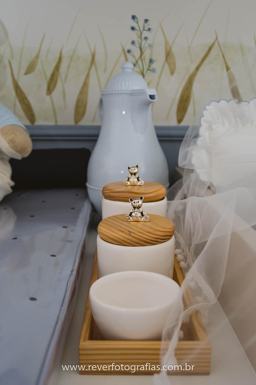 kit higiene quarto de bebe urso