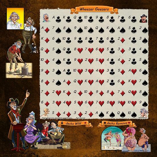 Wheezer Geezers Sequence Gameboard