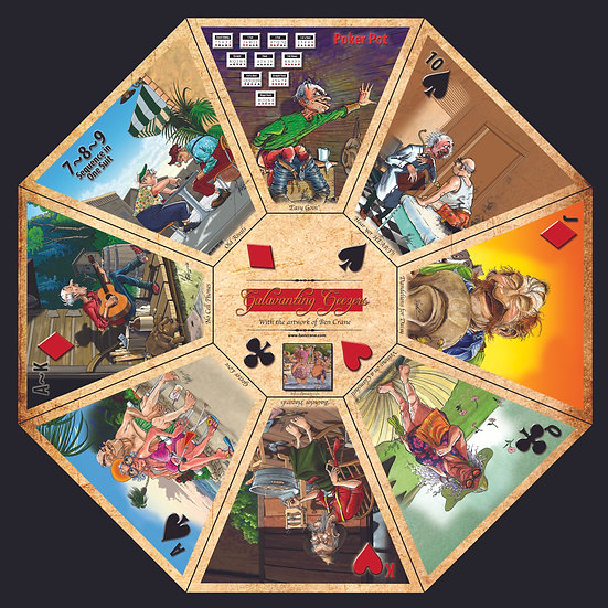 Galavanting Geezers Rummoli Gameboard