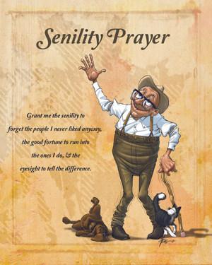 Senility Prayer