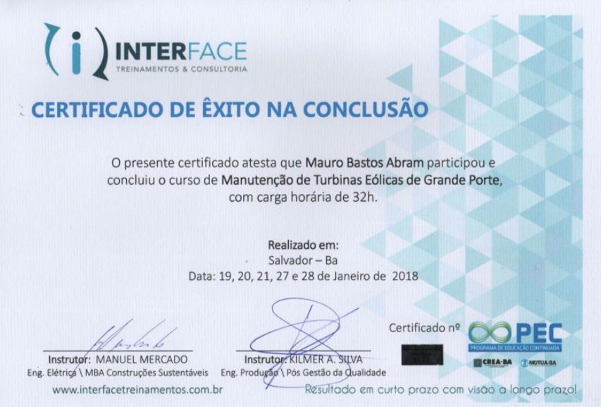 Certificado Manut