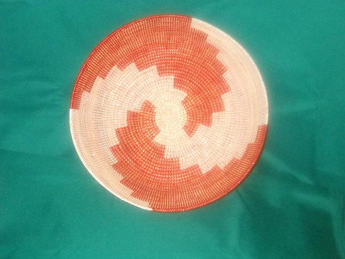 Bukedo & Rafia Baskets - Red & white