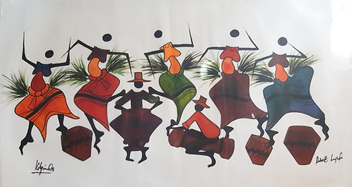 Watercolor Originals By Robert Lyunia - Feeling the Beat