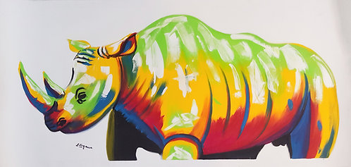 Original Acrylics - Rhino  By L. Segower