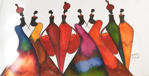 Watercolor Originals By Robert Lyunia - Stylish Ladies