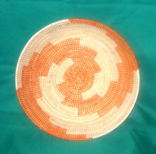 Bukedo & Rafia Baskets - Orange & white