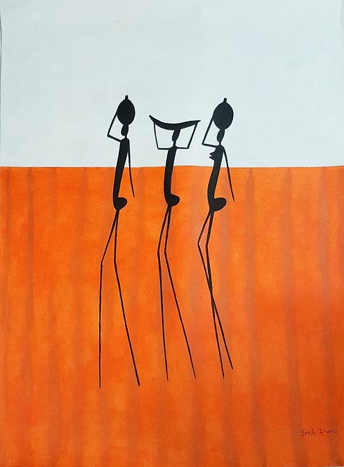 Original Acrylics - Simplicity 1   Gab Dune