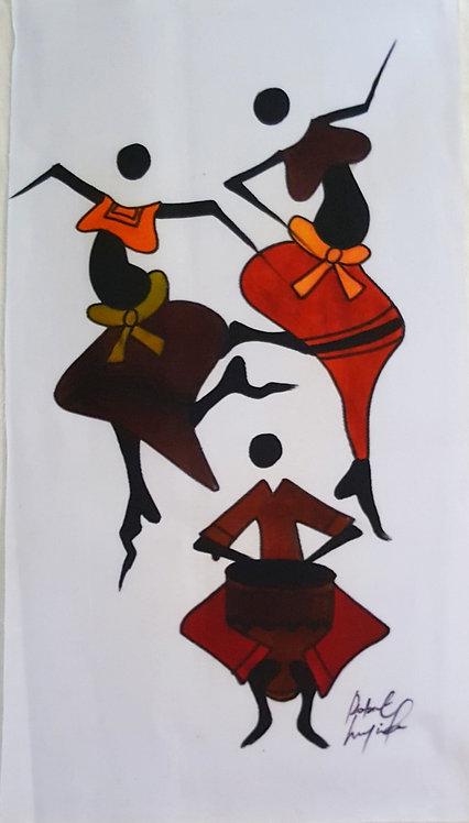 Watercolor Originals By Robert Lyunia - African Rhythm