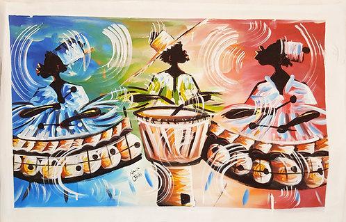 Original Acrylics - Drum Circle By Nana