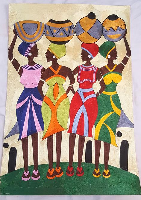 Silk Thread Art - Ladies Day
