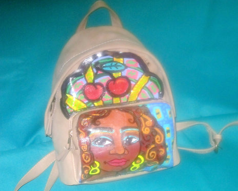 Hand Painted Backpack - Joy