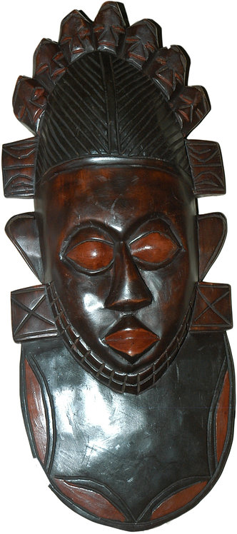 Tribal leather look Mask
