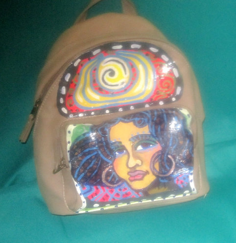 Hand Painted Backpack - Independent