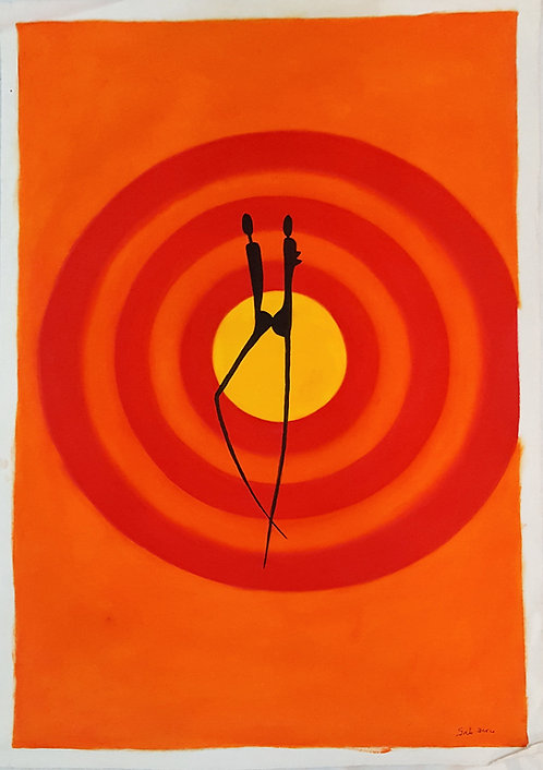 Original Acrylics - Simplicity 2 by Gab Dune