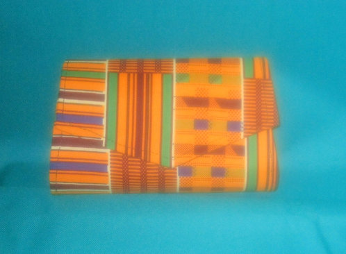 Ghanaian Clutch purses: Multi colored orange, green, maroon
