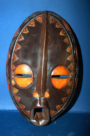 West Africa Wood & metal Mask