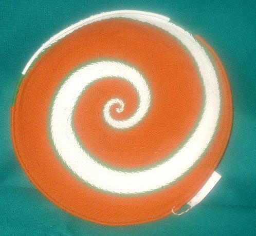 Zulu Telephone wire Bowls - Orange, green & white