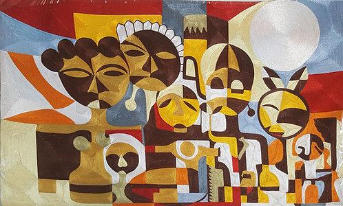 Silk Thread Art - African Vibe