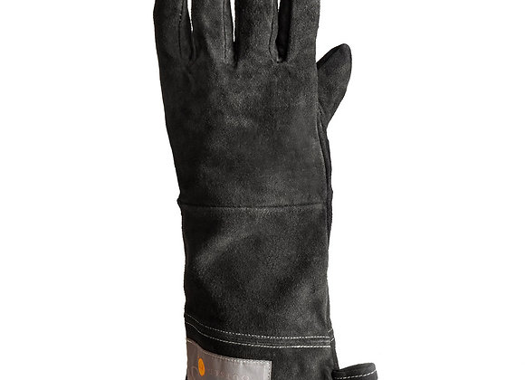 """15"""" Black Leather Grill Gloves"""