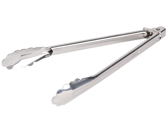 "12"" Heavy Duty Stainless Steel Utility Tongs"