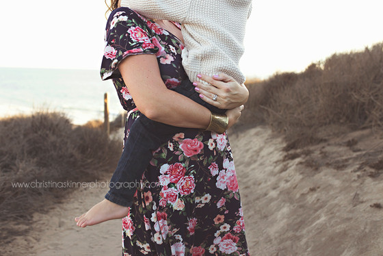 Family Maternity Session at the Beach {Orange County Family Photography}