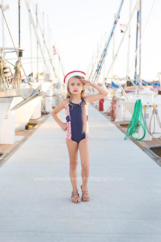Saylor swim release (Child photography, Huntington Beach)