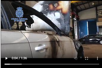 Desarticulada una organización dedicada al robo de vehículos para defraudar a aseguradoras