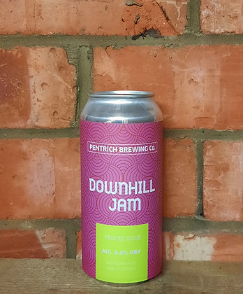 Downhill Jam – Pentrich – 5.5% Peach & Rapsberry Fruited Sour