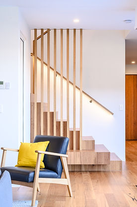 Allen Brothers Home interior timber stai