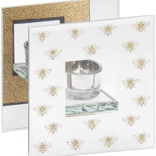 Golden Bee Glass T-light Holder