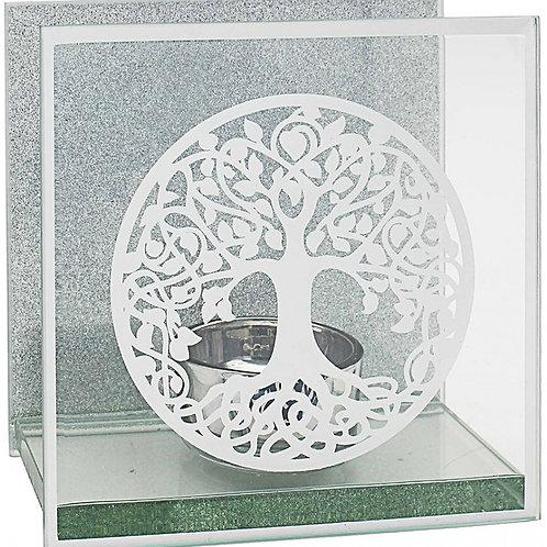 Tree Of Life Glass T-light Holder