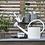 Thumbnail: Arrosoir métallique blanc 5 litres