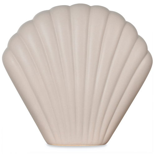 Vase coquillage gris
