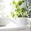 Thumbnail: Arrosoir métallique blanc 1,4 litres