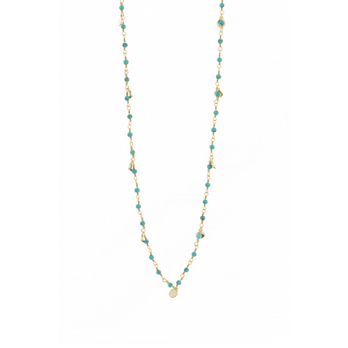 Collier Inde Pampilles Turquoise UNE A UNE