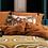 Thumbnail: Coussin en lin Kurti Terracotta 45x45 cm