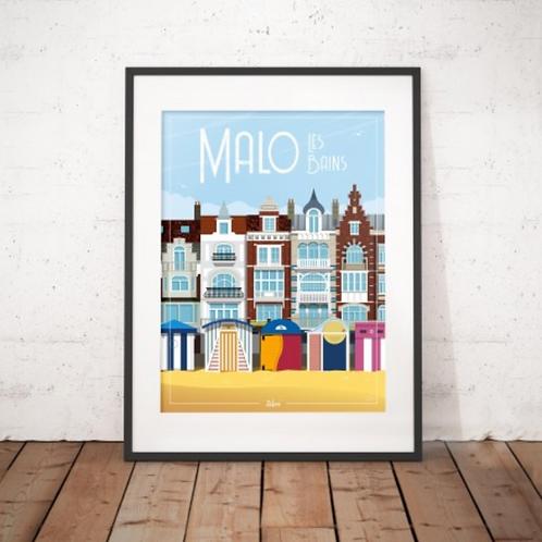 Affiche Wim' Malo Les Bains 30x40 cm