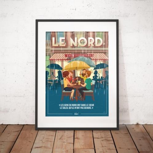 Affiche Wim' Le Nord 30x40 cm