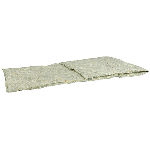 Edredon en coton motif cachemire vert et beige