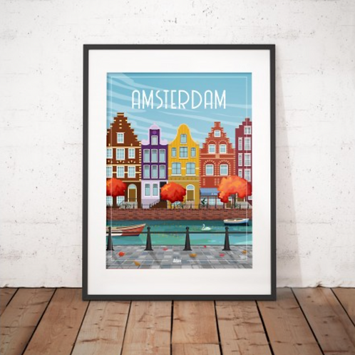 Affiche Wim' Amsterdam 30x40 cm