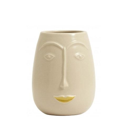 Vase visage en céramique
