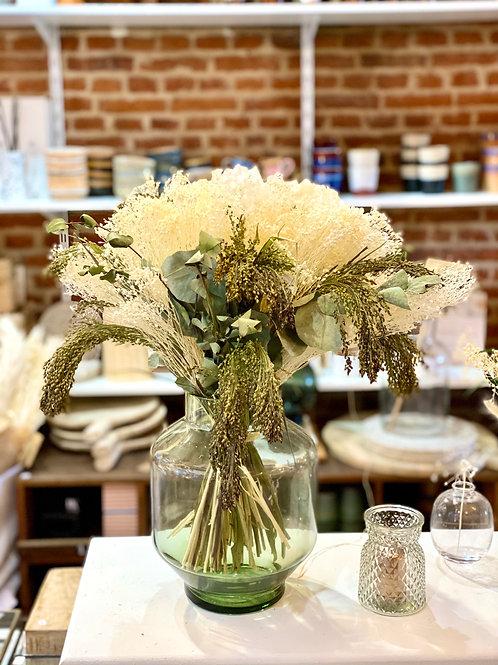 Bouquet de fleurs séchées hortensia blanc