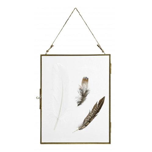 Cadre à suspendre doré transparent 26 cm