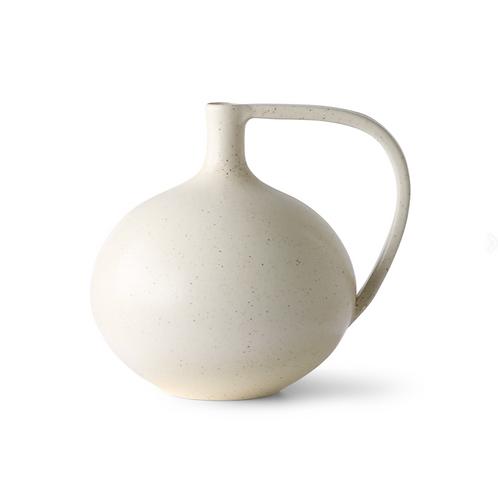 Vase en céramique blanc moucheté HK LIVING