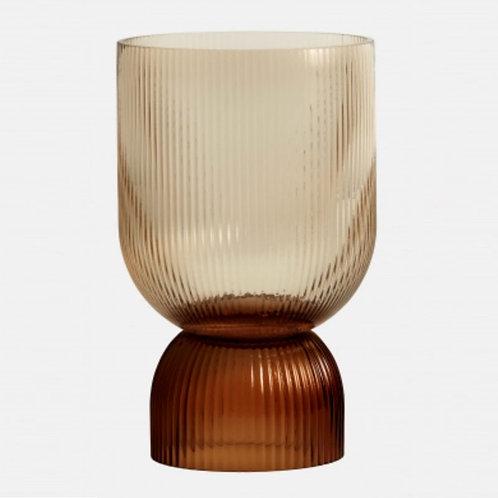 Grand vase bougeoir marron