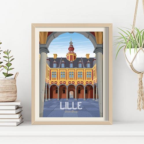 Affiche Sacrée Lilloise Vieille Bourse - 30 x 40 cm