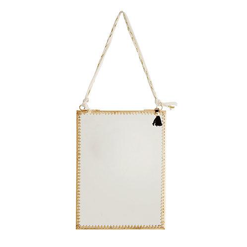 Miroir doré portrait MADAM STOLTZ