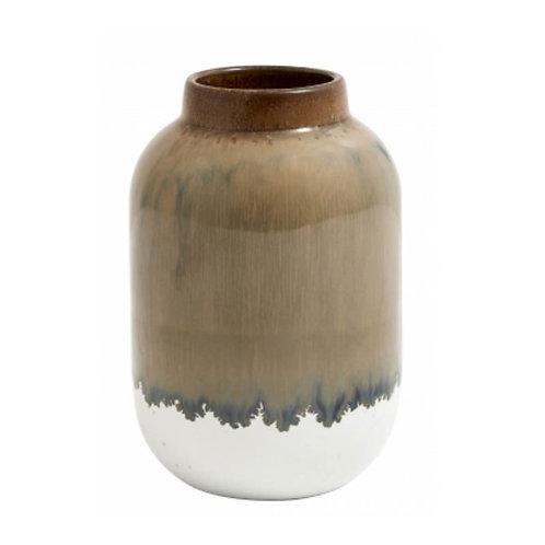 Vase en céramique marron et blanc