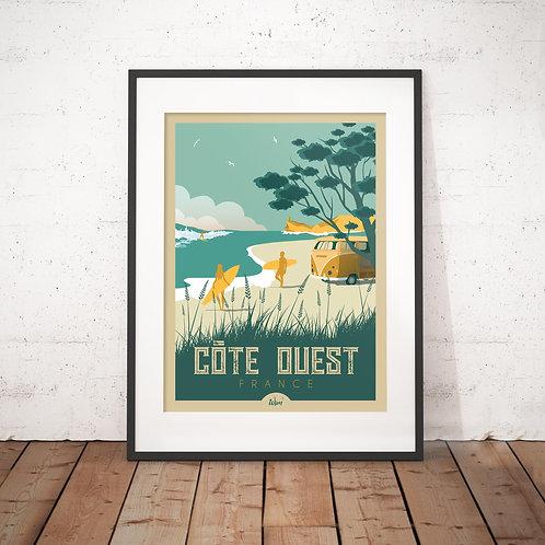 Affiche Wim' Côte Ouest 30x40 cm