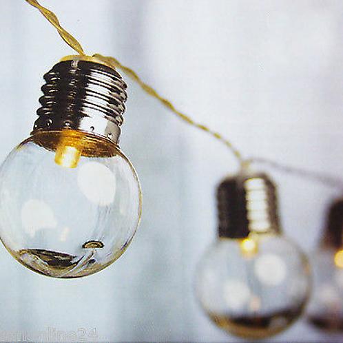 Guirlande lampions intérieur/extérieur guinguette 20 LED
